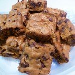 Pumpkin Chocolate Chip Brownie Bars