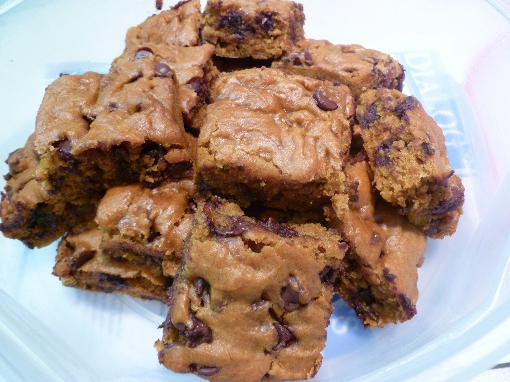 Pumpkin Chocolate Chip Bars Recipe — Dishmaps