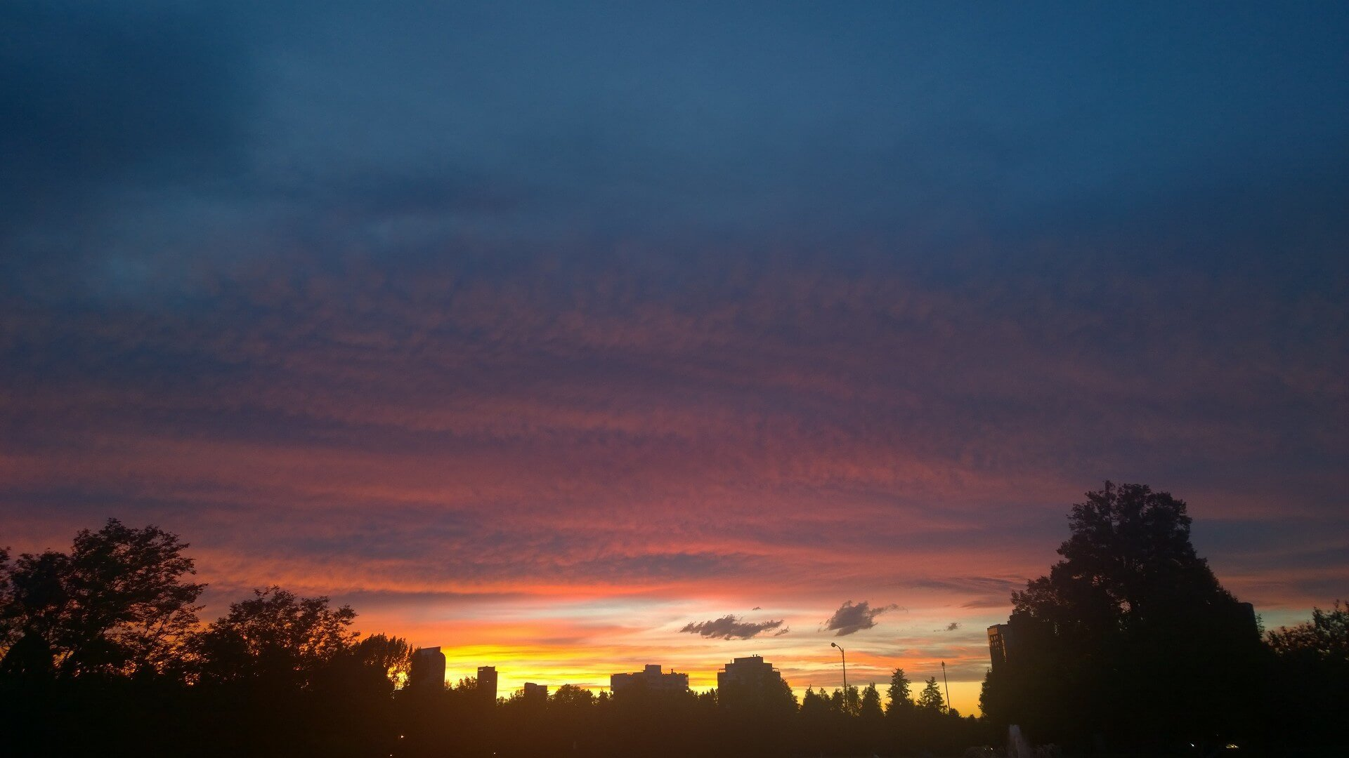 Sunset in Cheesman Park