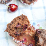 Chocolate Cherry Banana Muffins